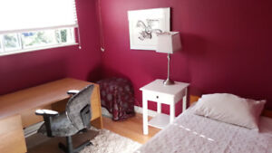 Upstairs bright, clean quiet fully furnished room for rent.