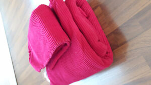 Red blanket scraps for sale