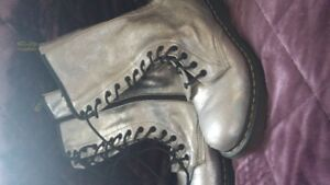 Silver Dr. Martens Boots - unisex
