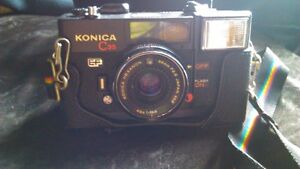 Konica C35 EF Vintage Film Camera Hexanon 38mm F2 8