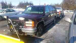 98 Suburban 4X4 5.7 with Meyers Plow