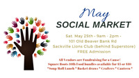 May 25th Social Market  9 - 2pm- Free Vendor Tables Available!