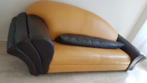 Loveseat & Sofa leather
