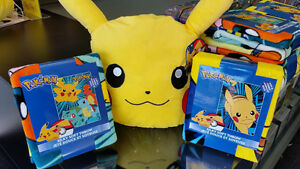 Officially Licensed Pokemon Pikachu Pillows & Blankets