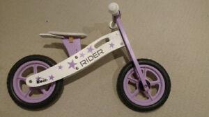 """Kobe wood """"Rider"""" Balance Bike - White & Purple"""
