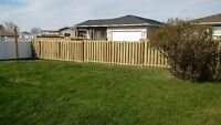 5' or 6' Wood Privacy Fence
