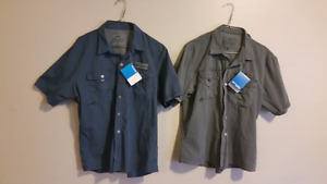 """Set of 2 men's """"columbia pro fishing gear"""" shirts (medium)"""
