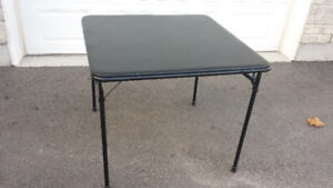 Folding padded card table and chairs