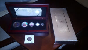 2003-SILVER-CANADA-MAPLE-LEAF-HOLOGRAM  PROOF COIN SET