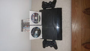 Sony black ps3 500 gb 12 games two controllers