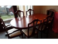 Dining table with 6 chairs - free to collect