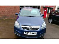 VAUXHALL ZAFIRA 1.6 CLUB 7 SEATS LOW MILES MET BLUE ONLY £18 WEEK P/LOAN 2007