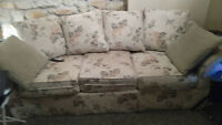 comfy sofa and chair  ex condition or willing to trade for small
