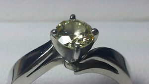 Excellent Diamond Platinum ring by SPENCE Size 5