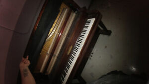 Newcombe Large Upright Piano. Canadian made.