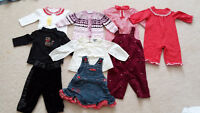 Baby Girl 6-12m Barely Used Clothing Lot - Gymboree, Pumpkin Pat
