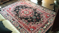 Traditional 2 Pcs Area Rug and matching Door Mat Set. Brand new.