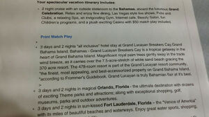 Bahamas/Florida vacation for 2
