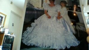 Princess Wedding Gown and Veil with Accessories - Reduced