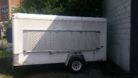 12 FOOT ENCLOSED TRAILER WITH CARGO DOORS AND REMOVABLE RAMP
