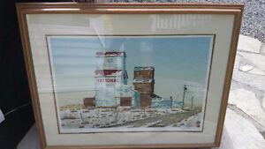 Henry K Ripplinger - Prairie Artist - Rare framed / Signed Print