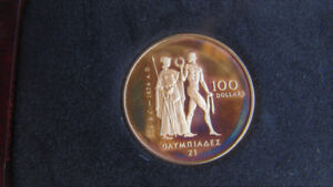 Pièce Olympique 1976 - 100$ en or 22 K