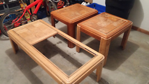 Coffee tables, need finishing and glass