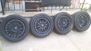 XXR 521, 17x7 multi 4 bolt pattern with barely used tires!