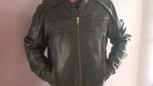 Mans  H-D leather jacket and Nylon H-D jacket