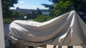 15.6ft x 70in attwood john style vass boat cover. Never used.