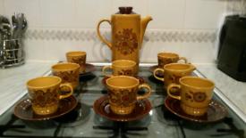 'ReducedRetro vintage 1970s Royal Worcester Palissy Sierra Coffee set.