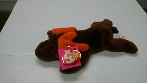 1993 Ty Beanie Baby Chocolate The Moose w/P.E. Pellets