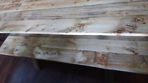 Newly built Harvest Table with two Benches