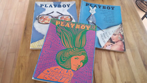 VINTAGE PLAYBOY MAGAZINES  1964-1973 LOT OF 70