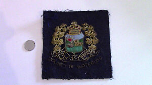 County of Waterloo Emblem, Embroidered, 1852 Peace Prosperity Kitchener / Waterloo Kitchener Area image 1