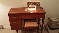 Singer sewing machine table with bench