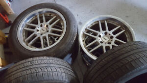 Set of 235/60 r18 103h tires with rims