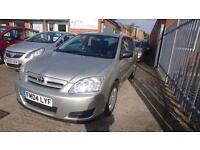 2004 / 04 Toyota Corolla 1.4 VVT-i T2 5 Door Full MOT+Warranty+AA Cover