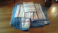 King size quilt, two pillow shams and decorative cushion shams
