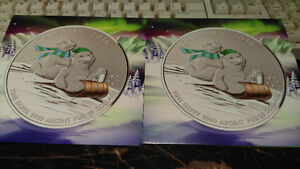 Royal Canadian Mint 2016 $25 pure Silver Coins