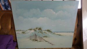 Canvas Beach scene