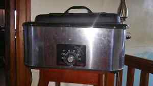 Air hockey table and large electric roaster