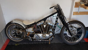 72 Ironhead Sportster Hardtail project