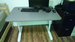 BEKANT 160x80CM manual height adjustable desk, great condition