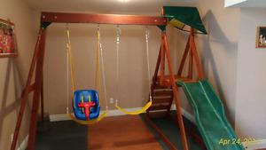 Indoor /outdoor playyard
