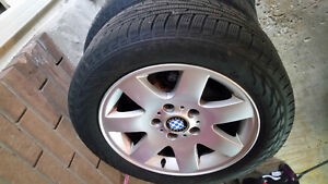 Bmw original rims with 205/55R 16 winters fits E46 cars Kitchener / Waterloo Kitchener Area image 2