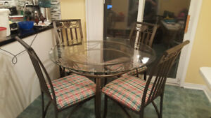 dining room table and 4 chairs with delivery if needed