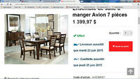 """""""Just Like New"""" Dining Table & 4 Chairs"""