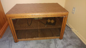 tv stand on sale with glass door ..20$