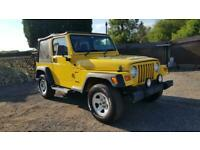 Jeep Wrangler 4.0 auto yellow jap import rust free in stock excellent condition